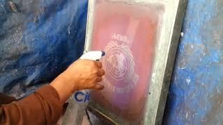 Como quitar la emulsión del cuadro serigrafia para estampar