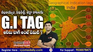 G I TAG అంటే ఏమిటి   What is GI TAG in Telugu   Geographical Indication Tag   Latest GI Tag Products