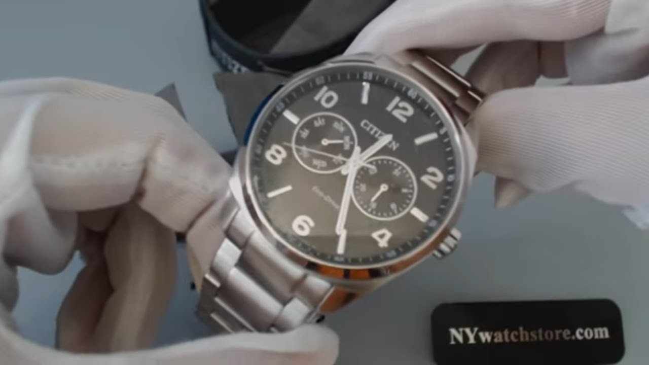 men s citizen eco drive day and date dress watch ao9020 84e youtube