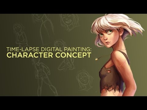 Character Concept Art - Time-Lapse Digital Painting