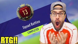 13TH IN THE WORLD REWARDS! TOP 100 REWARDS SQUAD BATTLES! RTG FIFA 18 Ultimate Team #07