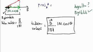 calculus dersleri - uzayda izdüşüm vektörü bulma (projection vectors)