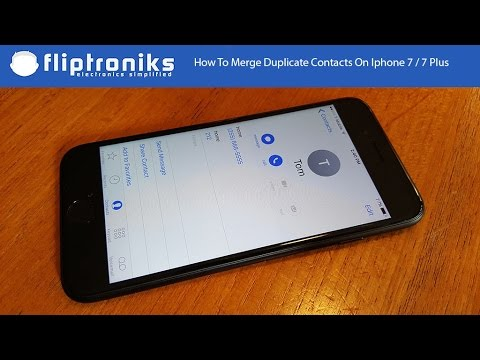 how to merge contacts on iphone