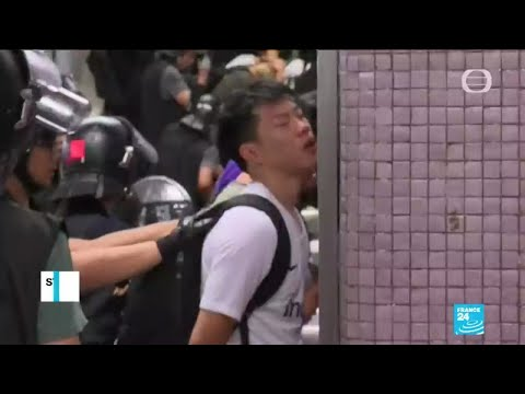 Hong Kong: Students skip school to protest after one of the most violent week-end in three months