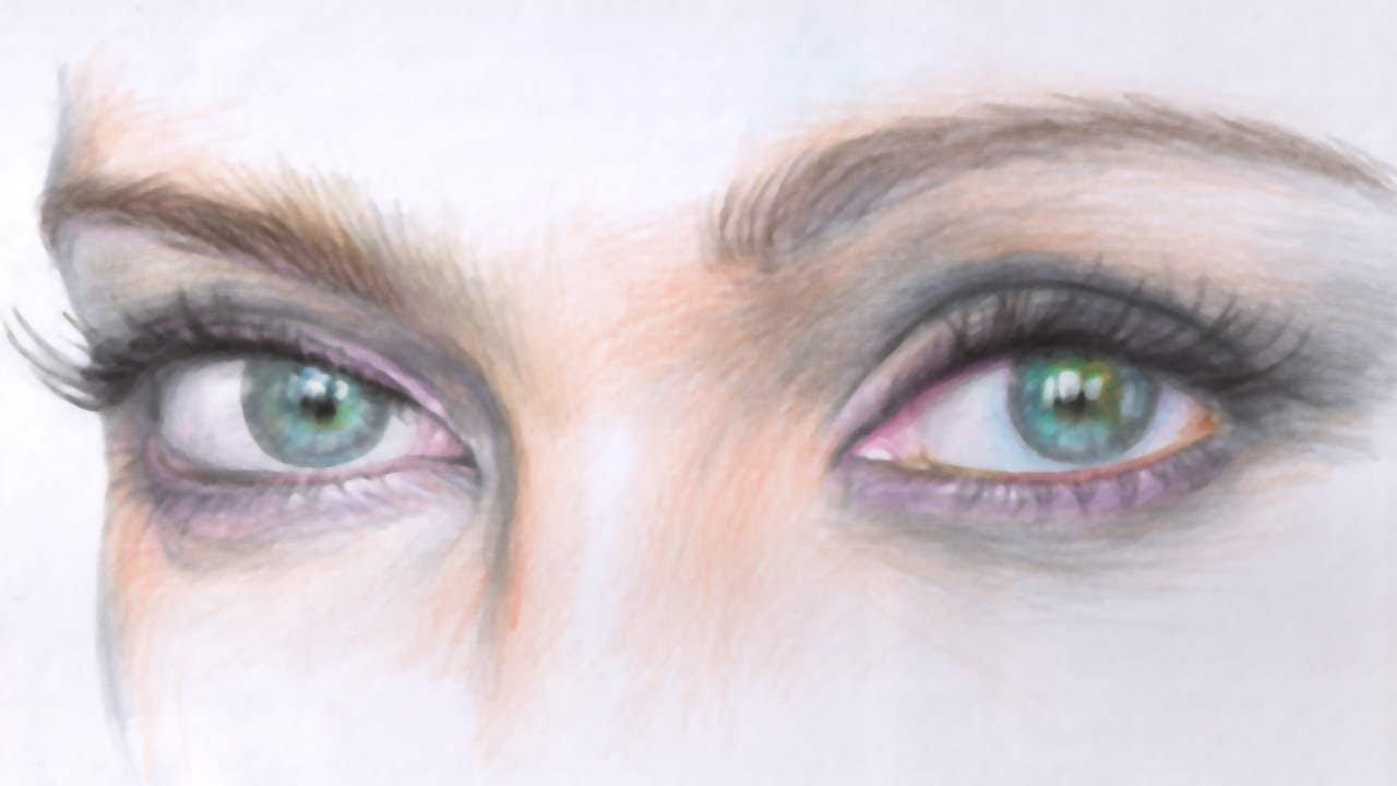 зеленые глаза картинки карандашом самых