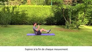 Enchaînement numéro 2 d'exercices pour muscler les abdominaux