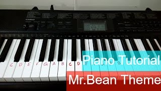 keyboard-tutorial for mr.Bean theme song