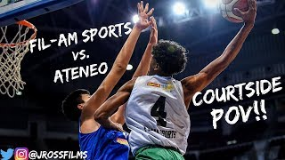 Fil Am Sports USA vs. Ateneo Full Game Highlights | COURTSIDE POV!!