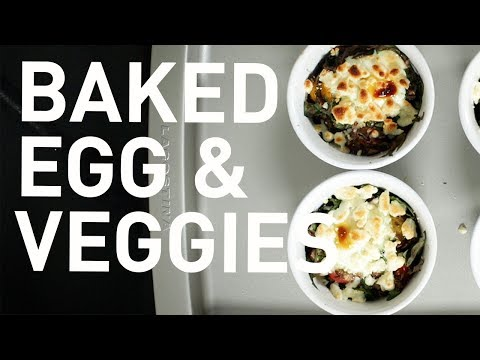 Easy Breakfast Recipe: Baked Egg & Veggies