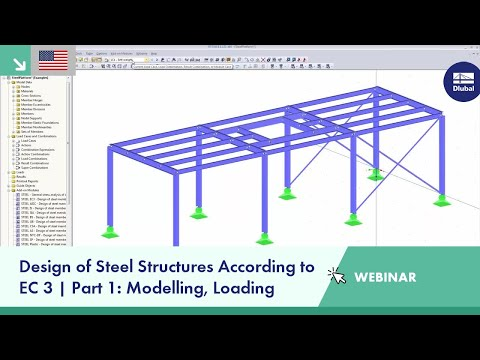 Dlubal Webinar: Design of Steel Constructions according to EC 3 | Part 1: Modelling, Loading