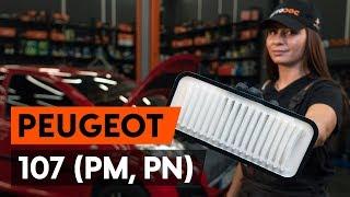 Mudar Bomba de água + kit de correia de distribuição PEUGEOT 107 - vídeos tutoriais