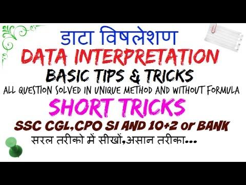 basic tips & tricks data interpretation for bank PO ssc [HINDI]📚