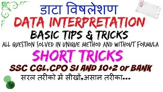 basic tips & tricks data interpretation for bank PO ssc [HINDI]📚