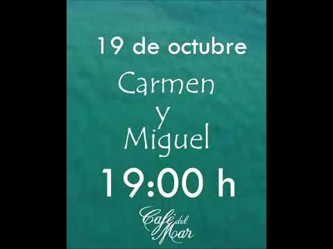 Este sábado Carmen y Miguel en Café de Mar Beach.....y atardecer irrepetible
