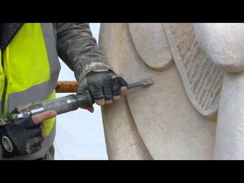 Carving the Eleanor Cross