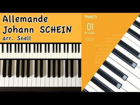 TRINITY Grade 1 Piano (2018-2020): SCHEIN Allemande, from 'Essential Piano Repertoire, Level 1'