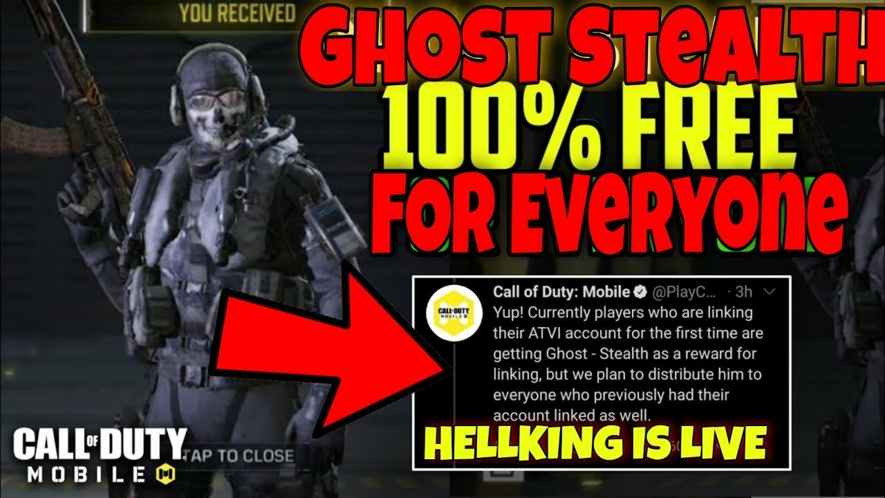 Free Ghost Stealth For All Codm Live Stream India Cod Mobile Battle Royale Gameplay In Hindi Youtube