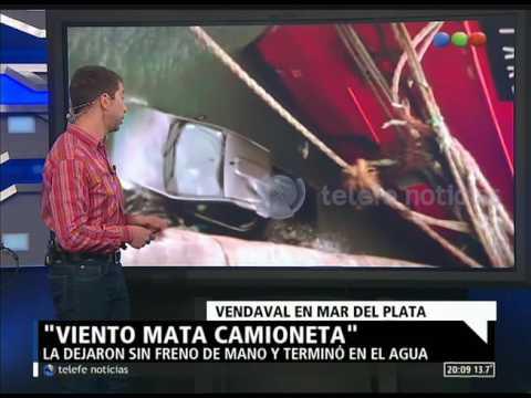 Temporal en Mar del Plata: una camioneta cayó al mar - NOTI.20