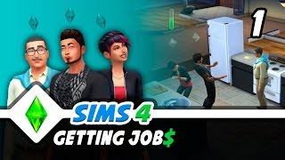 Sims 4 Gameplay - Let's Review Jobs - Sims 4 Lets Play, Part 1