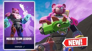 NEW MECHA TEAM LEADER Skin Gameplay in Fortnite!