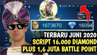 SCRIPT 16.000 DIAMOND 1,6 JUTA BATTLE POINT MOBILE LEGENDS TERBARU JUNI 2020 LUO YI MLBB INDONESIA