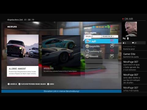 PS4-Live NFS Payback - Open World + Speedlist mit Micha! Donation auf Follower Anfrage gestartet!
