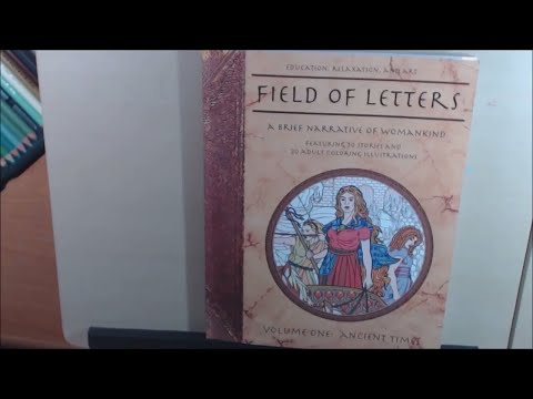 Field of Letters a Narrative of Womankind Coloring Book