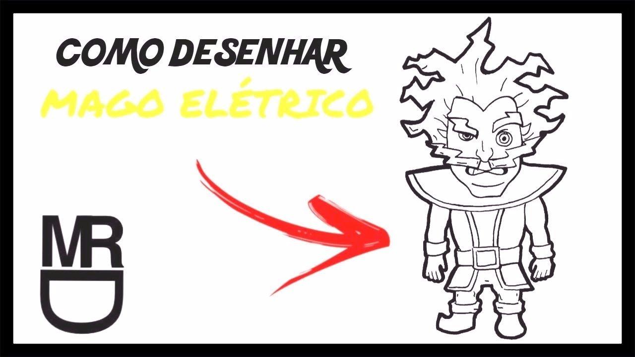 Como Desenhar O Mago Eletrico Clash Royale Youtube