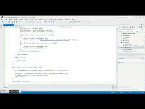 Windows 8 Programming Tutorial 3 - ESPN Feed - Feed Class 3