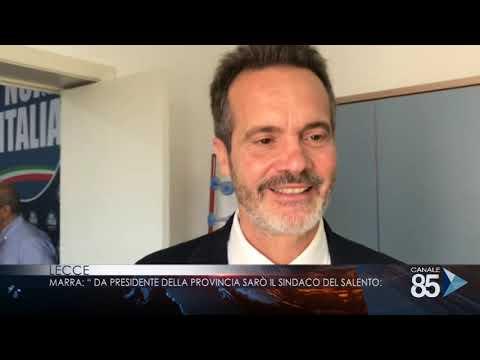 20 ottobre 2018   Lecce   Marra Da presidente della provincia sarò il sindaco del salento