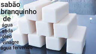 SABÃO BRANQUINHO USANDO ÓLEO DE FRITURA SUPER PERFUMADO