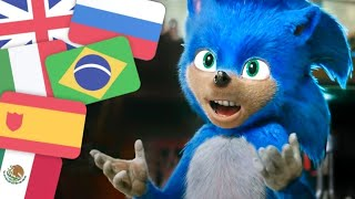 Sonic the Hedgehog Trailer (2019) In 6 Languages