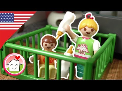Playmobil english Anna and Lena Play Babies - The Hauser Family