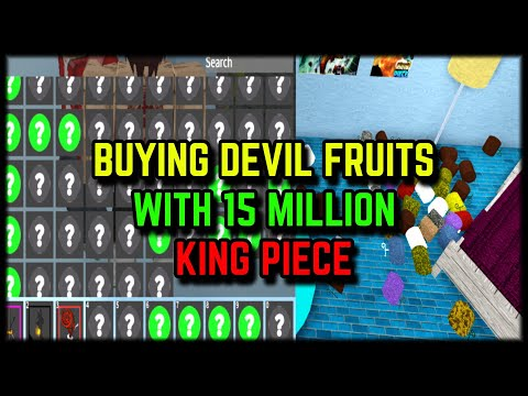 BUYING DEVIL FRUITS WITH 15 MILLION BELI! | KING PIECE | Ft @Xnight
