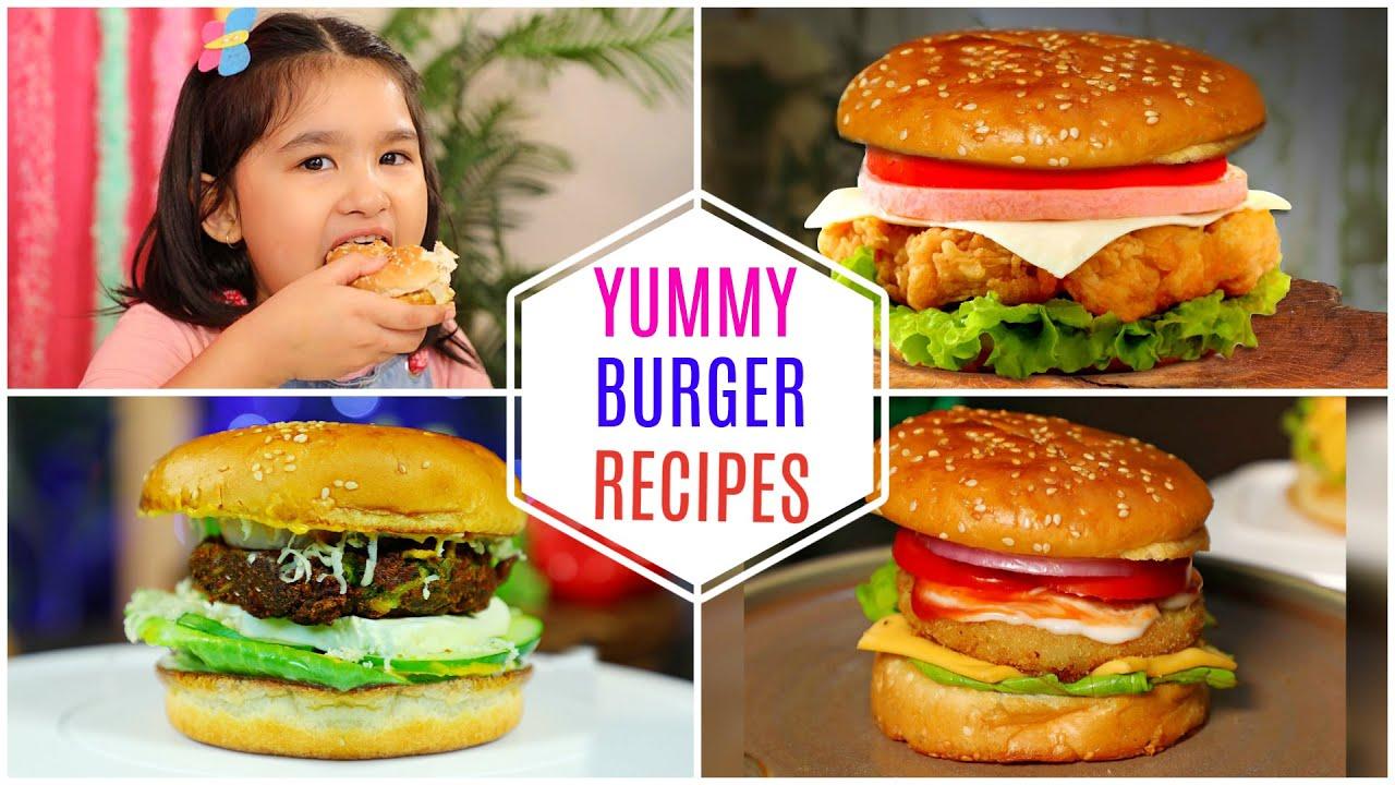 5 BURGER Recipes for Kids | CookWithNisha
