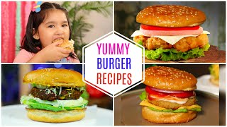 5 Yummy BURGER Recipes | CookWithNisha