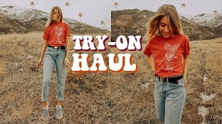 Try-On HAUL (Brandy Melville, Forever21 + more!) | Marla Catherine