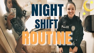 NIGHT SHIFT POLICE OFFICER ROUTINE   DAY IN THE LIFE   Stefanie Rose