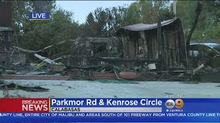 Calabasas Neighborhood Ravaged By Woolsey Fire