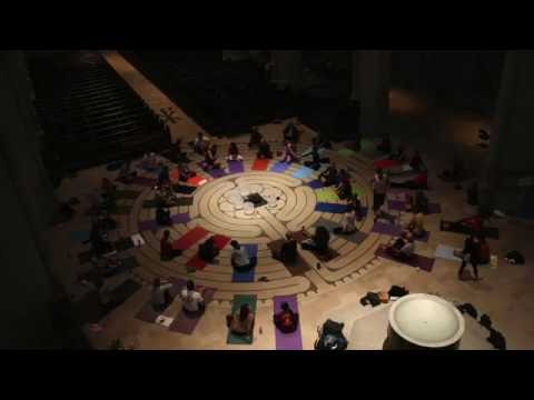 Yoga on the Labyrinth Grace Cathedral SF - May 31, 2016
