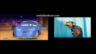 Toons (cars) and Disney Pixar Cars Side By Side Part 6