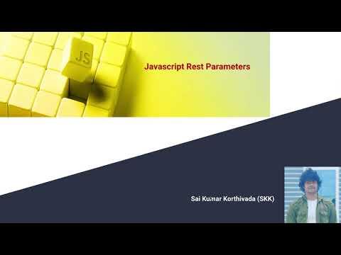 Rest Parameters in JavaScript | Aruguments Object in JavaScript