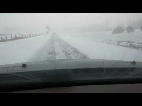 Driving in Snowmageddon April 14, 2018 part 1