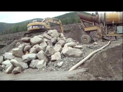 Alaska Placer Mine 2010.mpg, Alaska Gold Mining, Large Gold nugget, 6 foot trommel, D9 dozer
