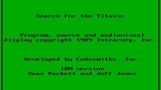 Search for The Titanic gameplay (PC Game, 1989)