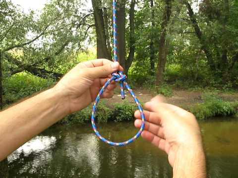 Как завязать морской узел: восьмерка