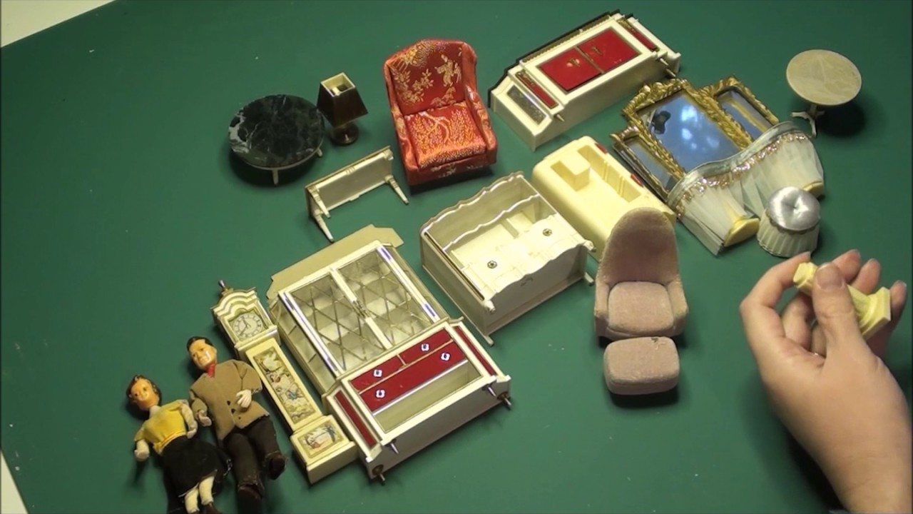 Vintage Dollhouse Furniture Unboxing Youtube