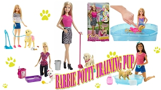 Barbie Potty Training Pup Barbie Girls Walk and Potty Pup with Doll