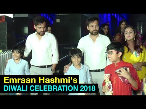 Emraan Hashmi's DIWALI CELEBRATION with Son Ayaan & Family | Bollywood Celebs Diwali Celebration