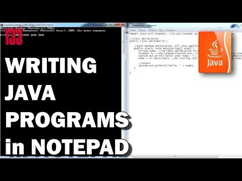 writing a java program in notepad how to code